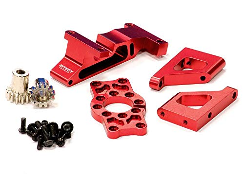 Integy RC Model Hop-ups T3285RED Brushless Conversion Motor Mount Set for 1/10 Revo 3.3 & Slayer (Both)