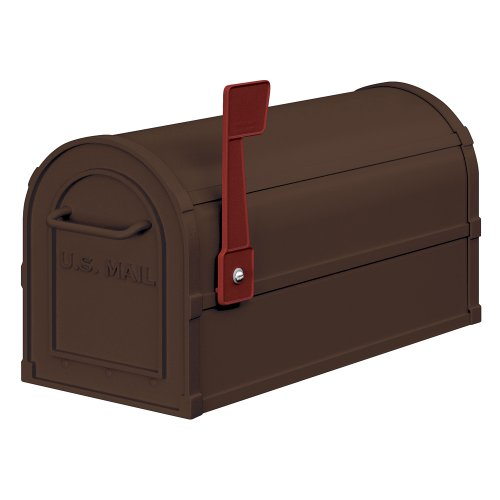 Salsbury Industries 4850A-BRZ Antique Rural Mailbox, Bronze