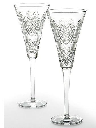 waterford crystal wine glasses uk john rocha lismore balloon wedding heirloom flute pair