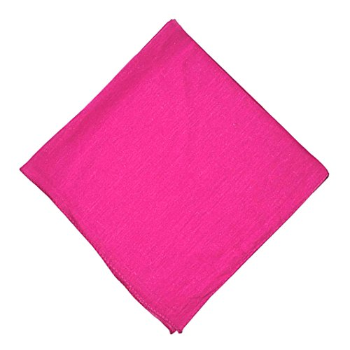 Daily Basic Special Edition Solid 100% Cotton Premium 22 x 22 Cloth Napkins - 12 Pack (Hot Pink) ()