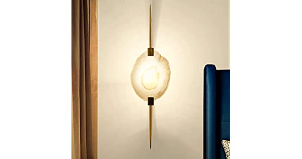 Amazon.com: CHX Agate Slice Wall Lamp - Copper Arts Bedroom ...