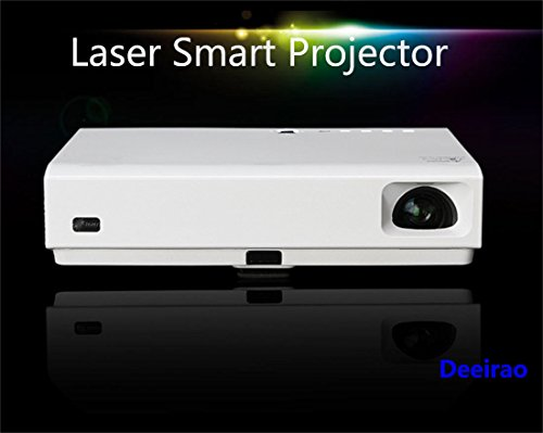 LED+Laser Projector, Deeirao Home Theater 3D DLP Projector Support 1080P Full HD Android4.4 Quad Core 6000LED Lumens Hdmi USB3.0 Bluetooth4.0 Youtube Facebook White MK65X