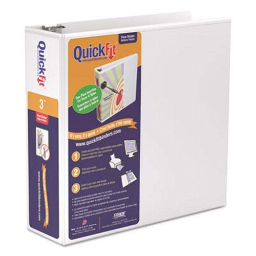- Stride Quick Fit D-Ring View Binder, 3