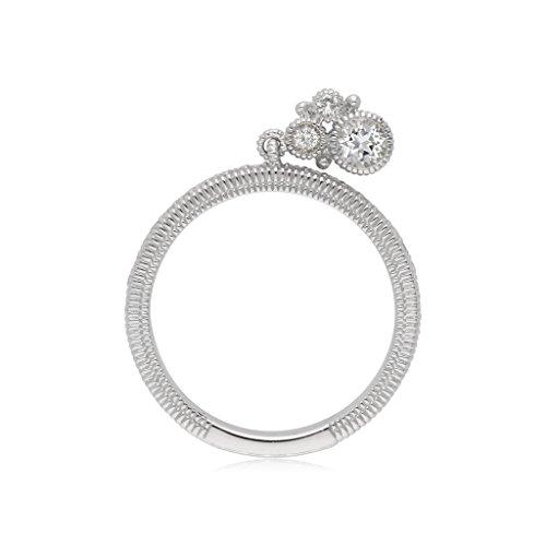 Judith Ripka Crystal Ring - JUDITH RIPKA Santorini White Topaz Charm Ring