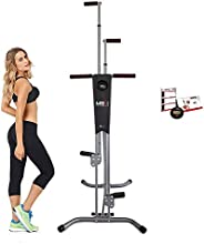 Maxi Climber Vertical Climber Adjustable Machine Fitness Total Home Gym Exercise Stepper Cardio Workout w Moni