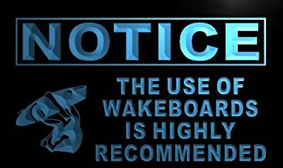 Notice Use of Wakeboards Recommended LED Sign Neon Light Sign Display m728-b(c)
