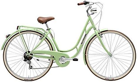 Bicicleta de 28 pulgadas para mujer Adriática Danish Shimano 6 V, color verde