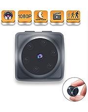 Mini-Kamera, Funey Full HD 1080P bewegliche Miniüberwachungskameras, Mini sphärische Nanny-Cam mit Bewegungserkennung und Infrarot-Nachtsicht, geeignet für die Innen- und Außensportkompaktkamera