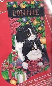 Needle Treasures Pretty Purrfect Needlepoint Cat Stocking Kit by Vanessa Adams