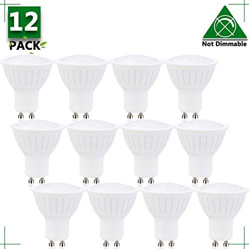 GU10 7w LED Bulbs, Equal to 65W Halogen Bulbs, 7W 700 Lumen 120°Beam Angle, 4000K Natural White Bulb, LED Light Bulbs, erfect Standard GU10 base Size, Recessed Lighting, Track Lighting 12 Pack