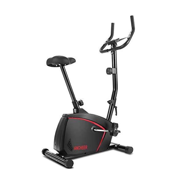 ANCHEER-Folding-Exercise-Bike-with-10-level-Magnetic-Resistance-Quiet-Comfortable-Stationary-Indoor-Cycling-for-Home-Workout-with-Adjustable-Seat-Monitor-Wheels