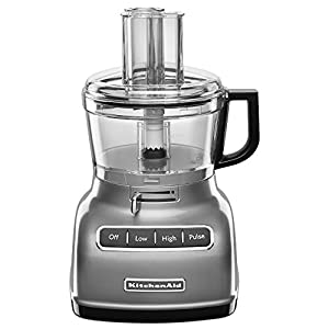 KitchenAid KFP0722CU 7-Cup Food Processor with Exact Slice System – Contour Silver
