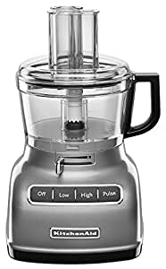 KitchenAid KFP0722CU 7-Cup Food Processor with Exact Slice System - Contour Silver