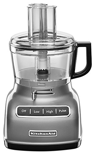 KitchenAid KFP0722CU 7-Cup Food Processor with Exact Slice System - Contour Silver]()