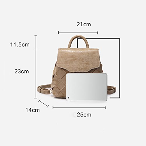 Style Retro Small Handbags Fabric Drawstring Scrub Knitting Bag Function Shoulder Leisure Backpack vXInIwqPR7