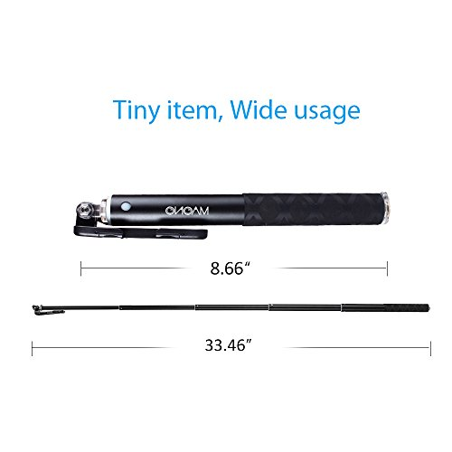 selfie stick maono bluetooth remote and tripod portable waterproof monopod for gopro iphone 7. Black Bedroom Furniture Sets. Home Design Ideas