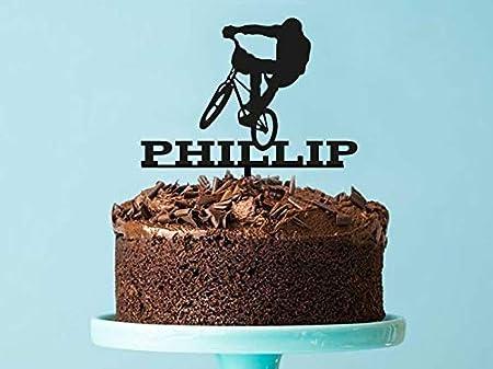 Decoración personalizada para tarta de BMX, cortada con láser, para bicicleta BMX, decoración de tartas, BMX, fiesta, hecha en Melbourne Australia: Amazon.es: Hogar
