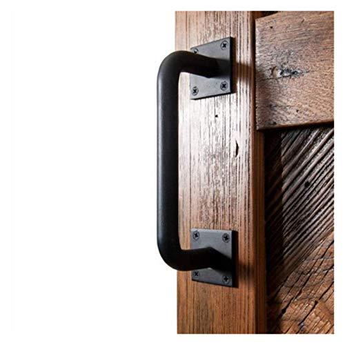 WUTONG Handle Industrial Sliding Barn Doors Handle | Black Iron Pull Handle, Bow Handle Boat Handles Handrail Grab Bar…