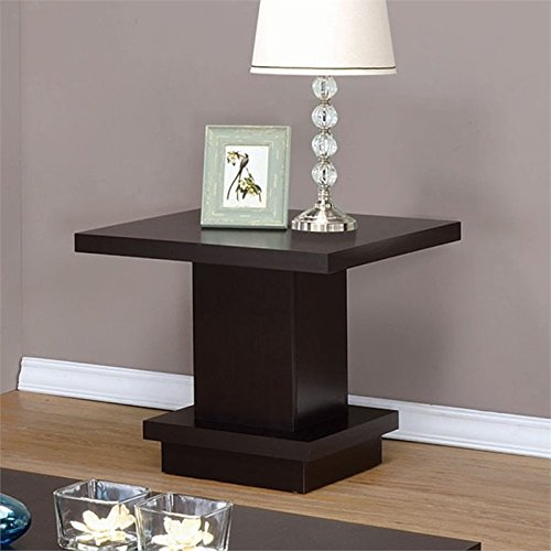 Coaster Home Furnishings 23.5 in. End Table in Cappuccino Finish