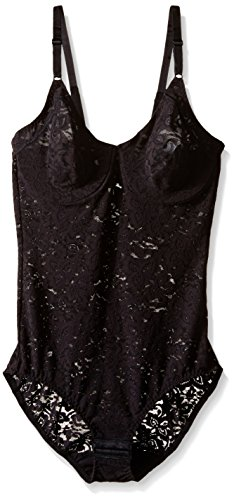 Bali Women's Shapewear Lace 'N Smooth Body Briefer, Black, 36C
