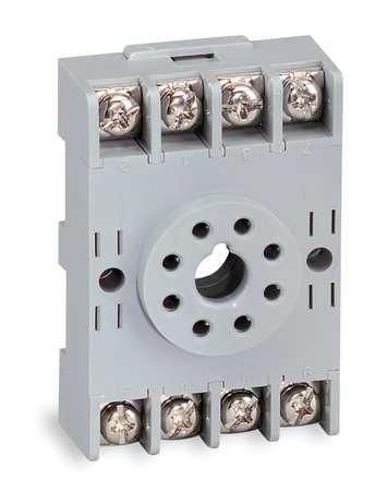 - Relay Socket, Standard, Octal, 8 Pin, 250VAC