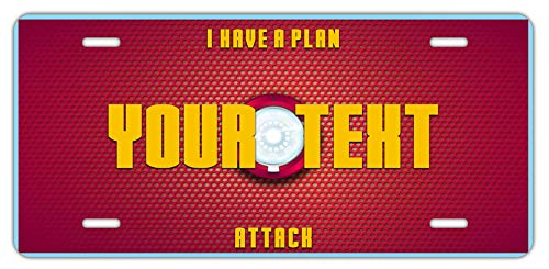 BRGiftShop Personalize Your Own Superhero Series: I Have A Plan Attack Car Vehicle 6