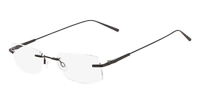 1e49b62de22 Flexon FLEXON E1091 Eyeglasses 001 Brushed Black Chrome at Amazon ...