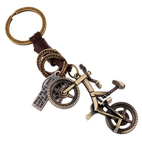 Maikouhai 1 Pcs Key Ring, Creative Portable Alloy Cute Giraffe Vintage Woven Leather Keychain Key Jewelry from Maikouhai