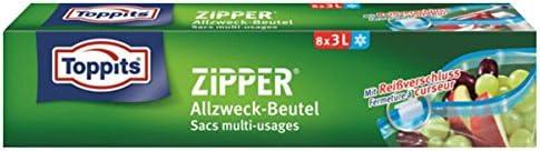 Toppits 12x Zipper Allzweckbeutel 3 Liter