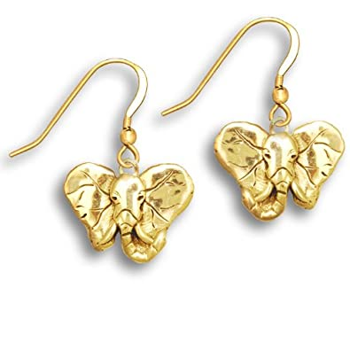 Amazon 14k gold elephant earrings by the magic zoo dangle 14k gold elephant earrings by the magic zoo freerunsca Images