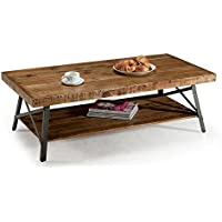 Premium Cocktail Table - Coffee Sofa Accent Home Living Room Furniture Wood with Shelf for Extra Storage Crafted Industrial Chic Design