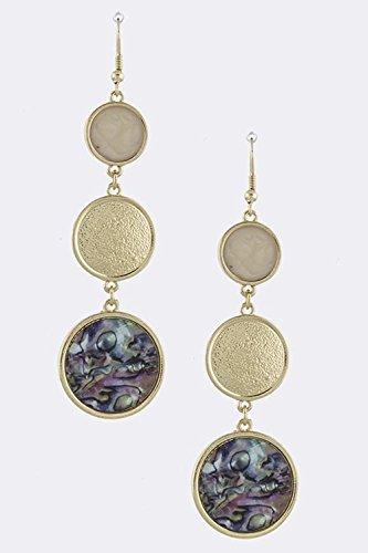resin shell earrings - 8