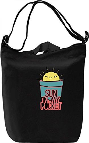 Sun In My Pocket Borsa Giornaliera Canvas Canvas Day Bag  100% Premium Cotton Canvas  DTG Printing 