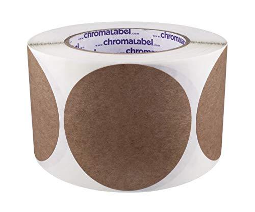 ChromaLabel Kraft Dot Labels   500/Roll (3 inch)