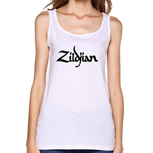 - RYAN LYNCH Women's Cotton Vest Create A Personalized Slim Zildjian Logo White L