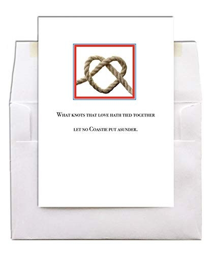 - Love Knot - 5x7 - US Coast Guard Wedding Anniversary Greeting Card With Envelope - by 2MyHero