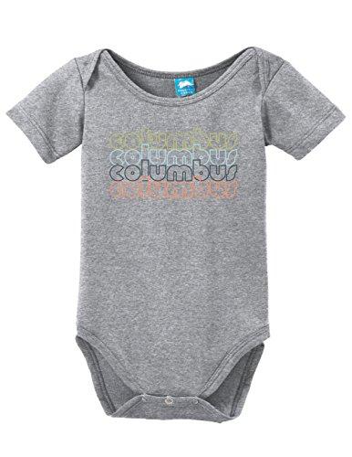 - Sod Uniforms Columbus Ohio Retro Printed Infant Bodysuit Baby Romper Gray 18-24 Month
