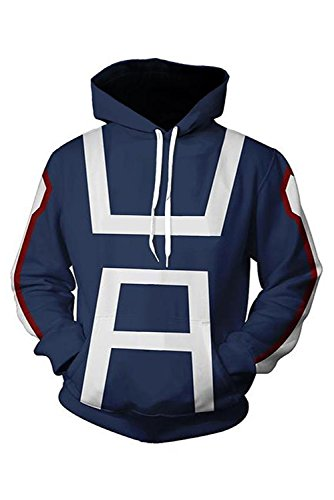 NoveltyBoy Boku No Hero Academia My Hero Academia Izuku Midoriya Hoodies Sweatshirt Cosplay Costume Training Suit Jacket (X-Large)