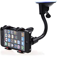 Car Mount, Costech Soft Tube Universal Windshield Dashboard GPS Stand Bracket Holder Clamp for Iphone,Samsung Galaxy ,Other 3.5-6.3In Smart Phone (1 Pack)