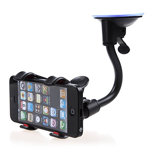 Car Mount, Costech Soft Tube Universal Windshield Dashboard GPS Stand Bracket Holder Clamp for Iphone,Samsung Galaxy ,Other 3.5-6.3In Smart Phone (1 (Gps Holder)
