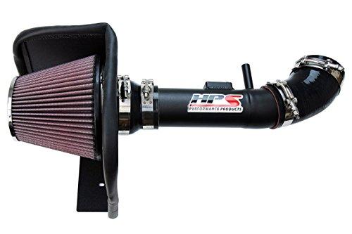 HPS Black Shortram Air Intake Kit with Heat Shield for 04-11 Ford Ranger 4.0L V6 Short Ram