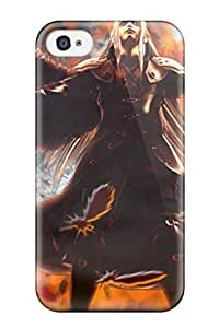 High Impact Dirt/shock Proof Case Cover For Iphone 4/4s (the Burning Of Nibelheim)