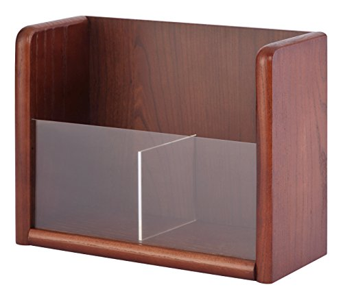 Sandusky Buddy 0622-17 Wood 1 Tier Pamphlet/Brochure Holder Organizer, Table Top or Wall Mount, 8.5 x 11