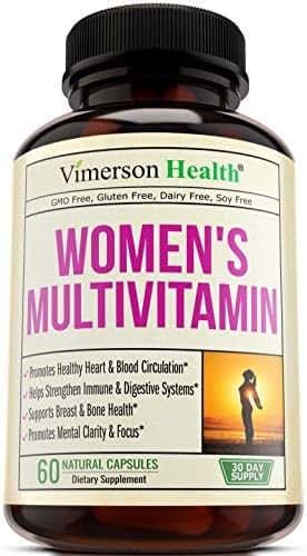 Women's Daily Multivitamin/Multimineral Supplement - Enhanced Vitamins & Minerals. Chromium, Magnesium, Biotin, Zinc, Calcium, Green Tea. Antioxidant Properties for Women. Heart & Breast Health.