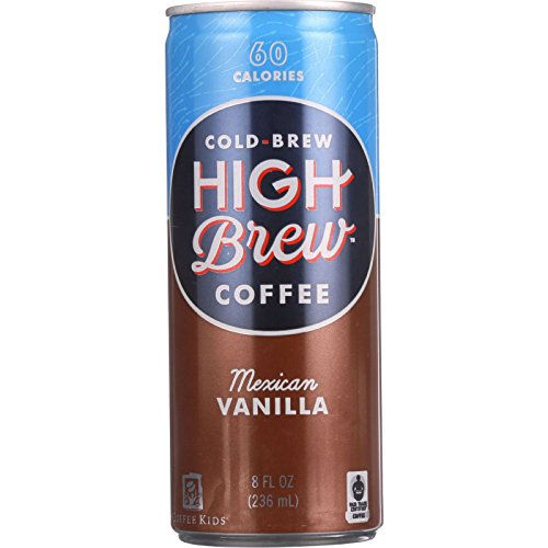 High Brew Coffee Coffee - Ready to Drink - Mexican Vanilla - 8 oz - case of 12 - Wheat Free - 60 Calories