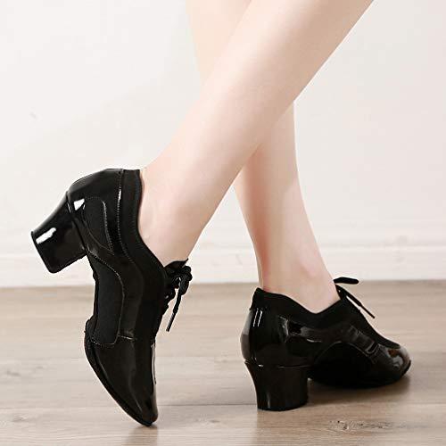 37 Yan Rendimiento Negro Señoras Oxford Profesional Paño 2019 Las Latino Zapatillas Zapatos Baile Entrenamiento De Nuevo black Orryfa