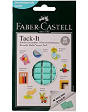 Faber-Castell GW187091-50 Tack-it Removable and Reusable Adhesive, Green, 50 g
