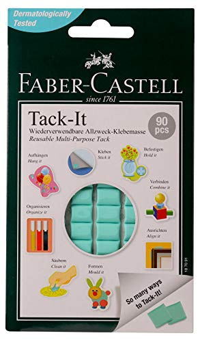 Faber-Castell Tack-It Multipurpose Adhesive, Non-Toxic Reusable & Removable Adhesive for Home, Office & School (90 pcs Blocks)