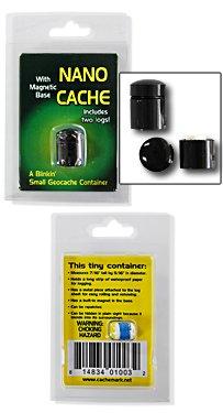 Nano Geocache Container (Cachemark) - Black