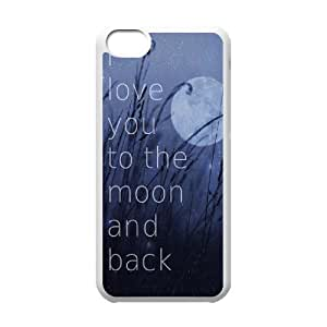 I love you to the moon and back Unique Design Case for Iphone 5C, New Fashion I love you to the moon and back Case
